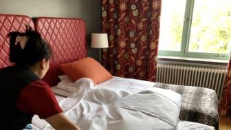 I teamet på Hotellstäd hjälps man åt och stärker varandra i det dagliga arbetet på Hotell Kristina.
