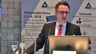 Dr. Josef Düllings, VKD Präsident, auf Auf dem Entscheider-Event am 08.02.2018 in Düsseldorf