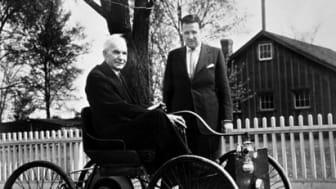 Henry Ford I og Henry Ford II med Quadricycle