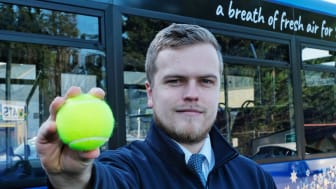 Tests have shown that a single bus could remove as much as 65g of pollutants from the air – equivalent to the weight of a tennis ball