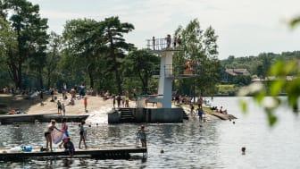 Badplatsen i Kåsjön.