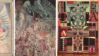 "Fredrik Söderberg, ""Portrait of Pan"", 2011, ur konstnärens samling. ""The Warrior's Path"", 2017, privat samling. ""Job"", 2018, ur konstnärens samling, Courtesy Cecilia Hillström Gallery."