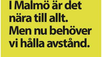 Del av kampanj som uppmanar Malmöbor att hålla avstånd