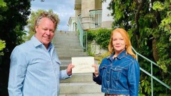 Docent Patrik Steorn och bokförlagschef Susanne Hamilton. Foto: Cecilia Rainer