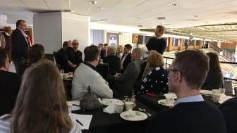 Stor uppslutning och bra presentationer idag på Karlskogas Frukostklubb i Nobelhallen.