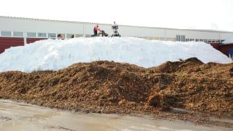 Snön smälter, men inte i Piteå