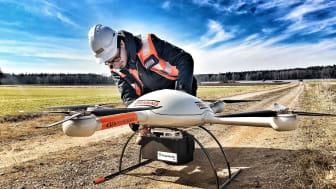 Der STRABAG-Bereich Digitale Objekterfassung und Drohnen nutzt innovative Technologie und Sensoren, um hohe Standards in der Datenaufnahme gewähren zu können.  copyright: STRABAG AG