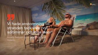 Solterapi på bad- och spaanläggningar
