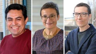 Juan Carlos Nieves, Virginia Dignum, Vicenc Torra bidrar till forskning om artificiell intelligens och digital kriminalteknik. Fotokollage: Mattias Pettersson/Mikael Hansson