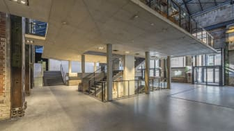 Foyer im neuen KKM Kraftwerk Mitte Dresden (Copyright Visualisierung: Ed. Züblin AG)