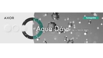 Bli med oss til Hansgrohe Aqua Days 16.-18. mars.