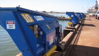 Ready to engage: automated mooring units at Port Hedland, Western Australia #ports #mooring #automation #bulkhandling