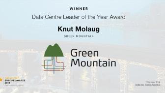 Green Mountain Wins prestigious Award at Datacloud Europe 2018