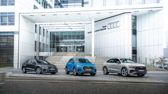 Nya laddhybrider i Audi-programmet. Audi A3 Sportback, Q3 och Q8 TFSI e