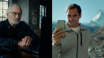 Robert de Niro und Roger Federer (c) Schweiz Tourismus