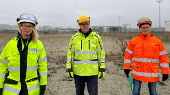 I Göteborgs hamns Energihamn undersöks olika platser lämpliga att bygga en framtida anläggning för mellanlagring av koldioxid och förvätskning till flytande koldioxid. Bild: Göteborgs Hamn AB.