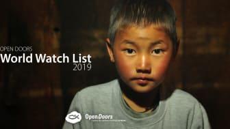 16 januari släpps 2019 års World Watch List som rapporterar om de 50 länder där förföljelsen av kristna är som svårast.