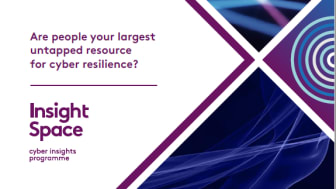 Text reads: 'are people your largest untapped resource for cyber resilience? Insight Space: cyber insights programme'.