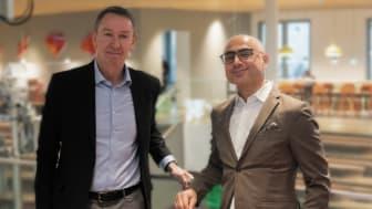 Hans Torin, vd Combitech och Haval van Drumpt, vd Tre Sverige inleder samarbete för att skapa Private Networks för industrin. Efterfrågan på moderna mobilnät för 4G (LTE-nät) och framöver även 5G är stort.