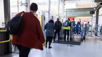 Affirmation Art appears at East Croydon station