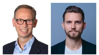 Christian Castwall, affärsområdeschef IHM Business School, Daniel Monthan, CEO, Howspace Sverige