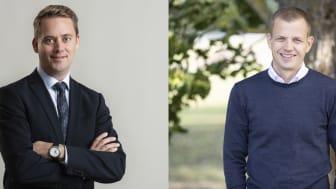 Henrik Johansson Casimiro, vd på Adven och Mikael Hedström, vd på Ragn-Sells Treatment & Detox.
