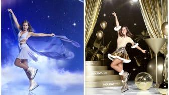 Sarah Lombardi taucht ein in die Welt von HOLIDAY ON ICE. Die Verwandlungskünstlerin zeigt ihre Passion für Eiskunstlauf im kommenden Winter bei den Produktionen SHOWTIME und SUPERNOVA.