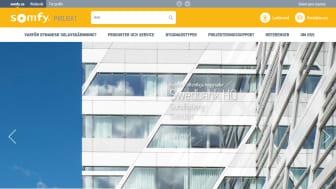 Ny hemsida för Somfy Projekt som riktar sig mot arkitekter, byggföretag och fastighetsägare.
