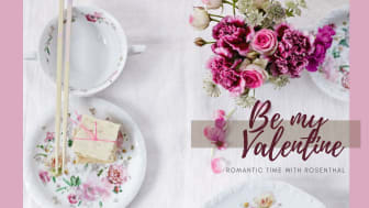 Romantic floral décor of Maria Pink Rose expresses love feelings