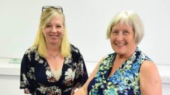 Lynne Coventry with volunteer Pauline 350