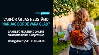 Gratis föreläsning om nedstämdhet och depression den 25 maj kl. 19