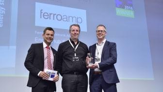 Ferroamp vinnare av ees AWARD 2016  för bästa innovation på InterSolar i München