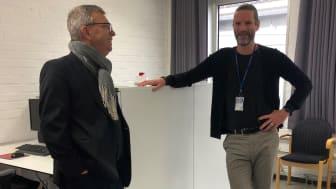 All utbildning inom yrkeshögskolan sker i nära samarbete med arbetslivet. Lärande i arbete (LIA) är därför en av de viktigaste delarna i en YH-utbildning anser Hans Rosén, till höger i bild.