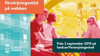 Från den 2 september kan de lundabor som redan har försörjningsstöd göra sina fortsatta ansökningar på datorn eller i mobilen, med hjälp av Lunds kommuns e-tjänst.