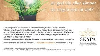 SKAPA-stiftelsen söker 2021 års bästa uppfinnare och innovatör!