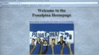 When the internet was new to all of us: Panalpina's website from the 90s (Screenshot by Panalpina)