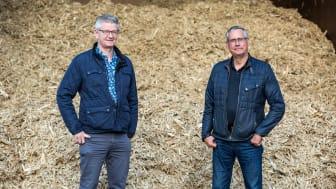 Flemming Rasmussen, regionchef Solör Bioenergi Syd och Sven Persson, VD för Bussme Energy. Fotograf: Jerry Gladh