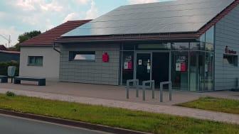Ins frisch erweiterte BeratungsCenter Elxleben lädt die Sparkasse Mittelthüringen am 22.6.2019 zum Tag der offenen Tür