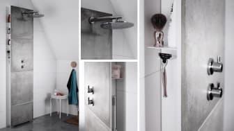 En helt ny produktkategori för badrummet: Blandarväggen Front från INR