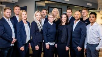 GROHE Norge har blitt sertifisert som et Great Place to Work. Her ses GROHE-ansatte i forbindelse med et salgsmøte før pandemien startet i fjor.