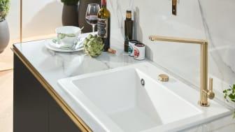 Küchenarmatur Finera in Gold