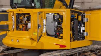 Cat 308 CR med fast bom, Next generation, enkel serviceåtkomst
