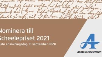 Dags att nominera till Scheelepriset 2021