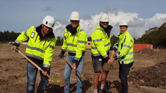 Första spadtaget för BAB´s nya arkitektritade kontor i Malmö