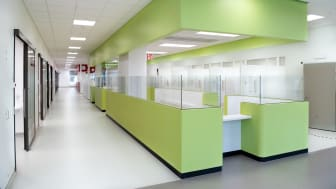 Arbetsstation (modul) på  nya akutmottagningen, Södersjukhuset