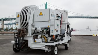 Cavotec AMP Mobile unit at the Port of Los Angeles