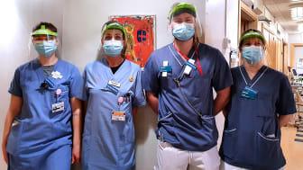 Frida Walter, Nina Walter, John Sundborg och Pernilla Mattsson är fyra av de nyanställda sjuksköterskorna på avdelning 3.