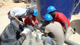Installation of the Yamaha Clean Water Supply System