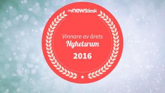 """Purus tog hem vinsten för Årets Nyhetsrum 2016 i kategorin """"Industri & Energi""""."""