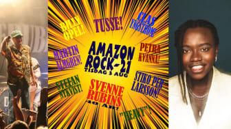 Amazonrock och Svenne Rubins 40-års jubileum intar Dalhalla